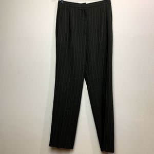 MaxMara Striped High Rise Wool Trouser Pant